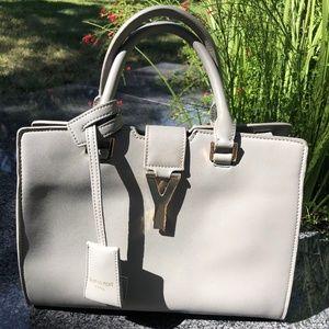 Grey Classic Y Handbag